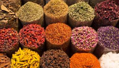Spices in Moroccan market