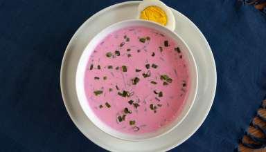 Aukstā Zupa (Cold Beet Soup)