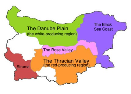 The Bulgarian wine map