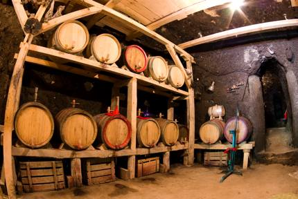 A cellar in Melnik, a region growing the Melnik grape variety.