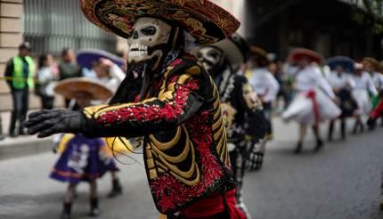 Dia de muertos festival in Mexico City