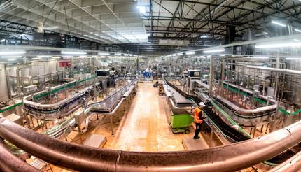 Pilsner Urquell Brewery bottling plant