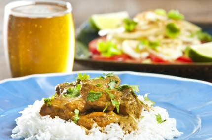 Pilsner pairs wonderfully with a curry dish