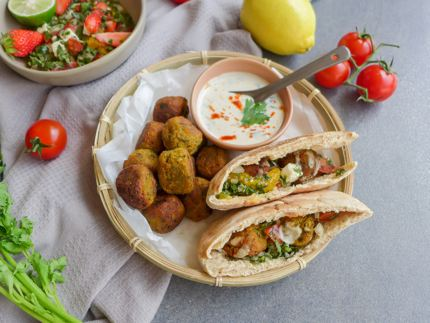 Freshly cooked falafel is delicious