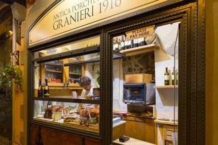 A porchetta shop in Florence