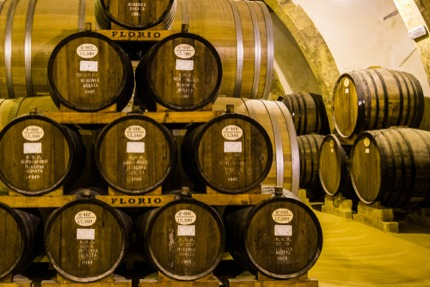 A marsala wine cellar in Sicily