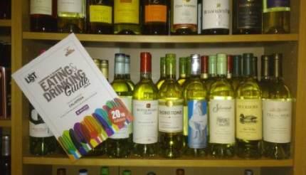 Calistoga wines on shelf