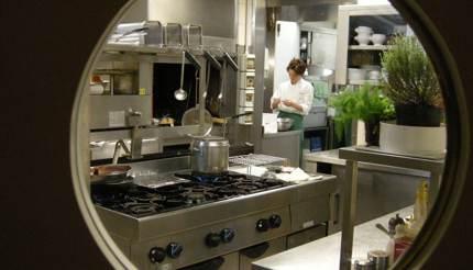 Staff working in kitchen