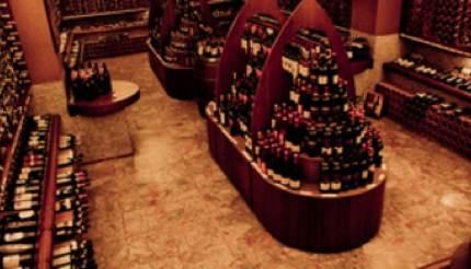 Wine cellar in Enoteca Alessi
