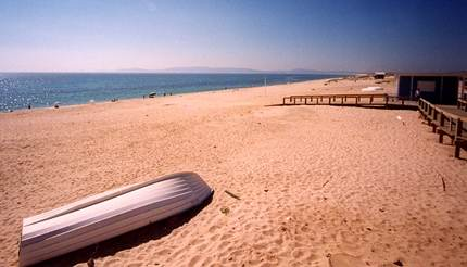 Deserted beach in Comporta