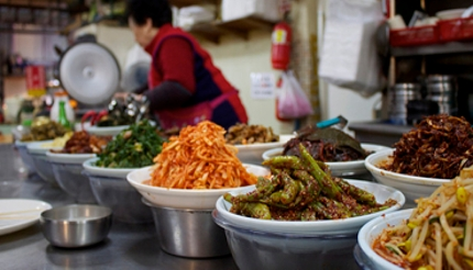 Banchan side dishes being prepared for ssambap (Photo Chelsea Marie Hicks via Flickr)
