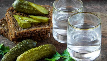 Vodka and pickles